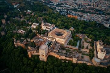 Granada Alhambra aerial view