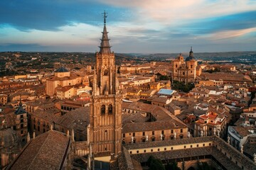 Aerial view of Toledo Cathedral
