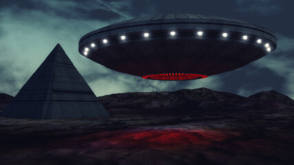 3d render. Unidentified flying object