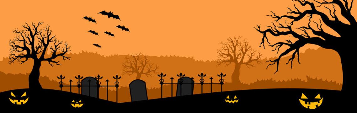 sunset In Halloween Background