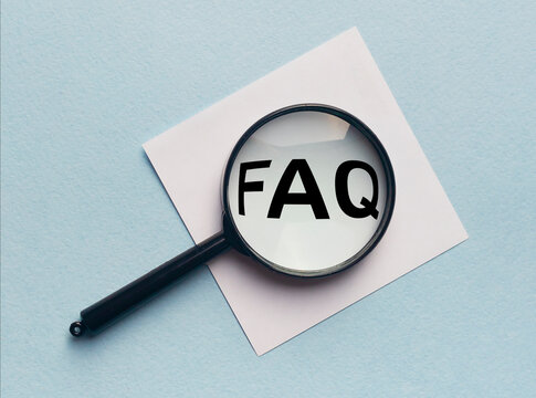 FAQ word text acronym inscription, frequently asked questions