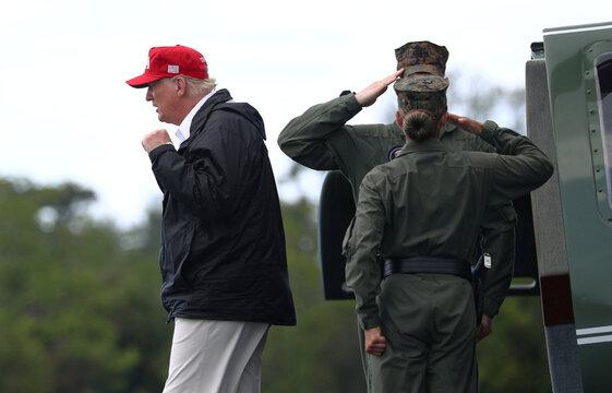 U.S. President Donald Trump visits areas damaged by Hurricane Laura in Lake Charles, Louisiana and Orange, Texas