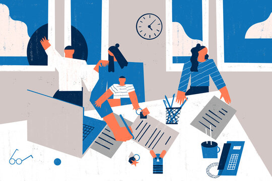 Work from home challenges: homelife distractions at workspace and parenting.