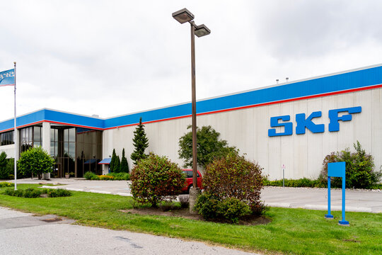 Scarborough, Toronto, Canada - August 29, 2020: SKF Canada building in Scarborough, Toronto. SKF is the world's largest bearing manufacturer, founded in Gothenburg, Sweden in 1907.