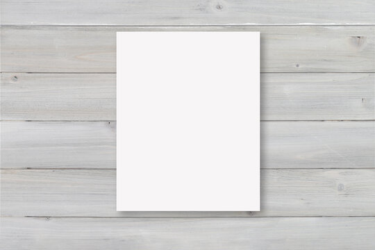 4:5 Ratio Canvas Mockup on Gray Wood Wall with Clipping Path