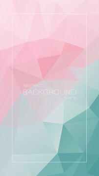 vertical vector background. Pink to gray triangles.