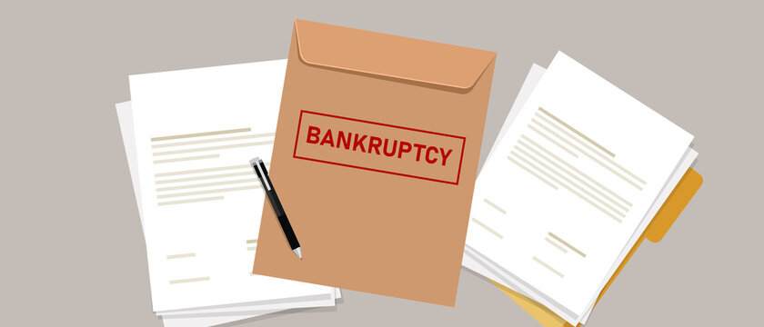 company files for bankruptcy legal law document process debt insolvency during crisis recession