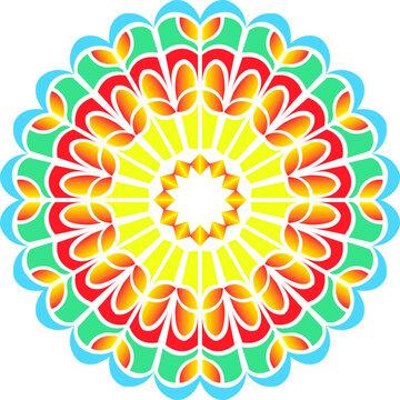 colorful mandala design.vector mandala flowers design.