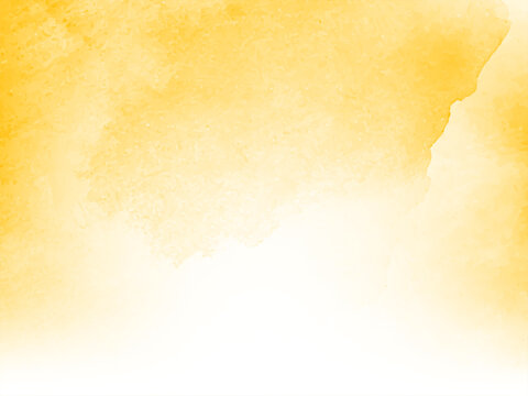 Modern soft yellow watercolor background design