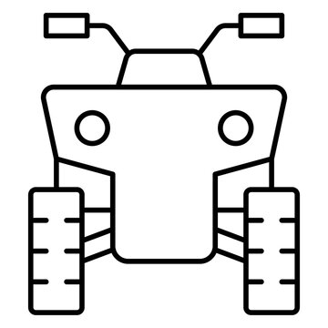 All-terrain vehicle icon, Summer vacation related vector