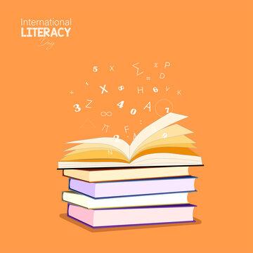 Vector Illustration of International literacy day. 8 September.