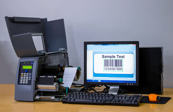 Barcode Sticker ribbon Printing Machine.