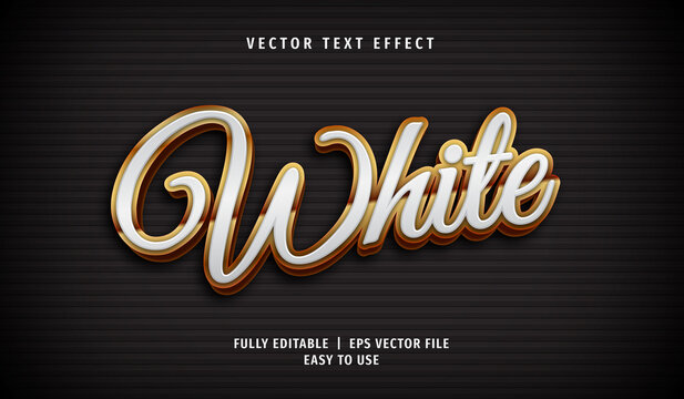 3D White Text effect, Editable Text Style