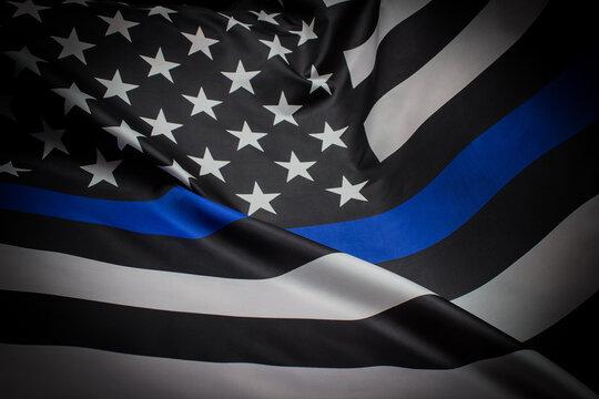 Police Thin Blue Line Flag