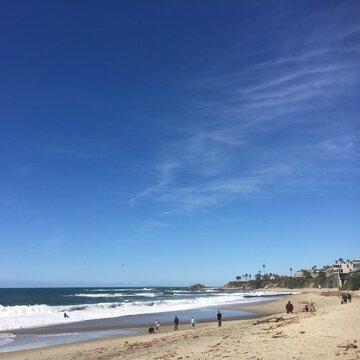 A scene from the artist colony of Laguna Beach.
