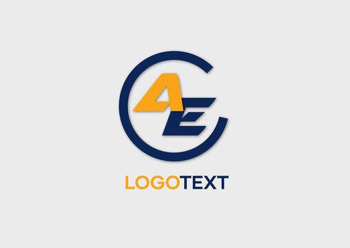 AE letter logo, letter initials logo, name identity logo, vector illustration