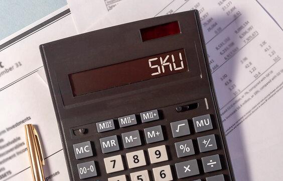 Business Acronym SKU as Stock Keeping Unit. sku concept