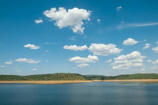 Cijara reservoir between Caceres and Badajoz in Spain