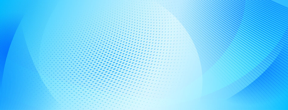 Abstract halftone background of small dots and wavy lines in light blue colors