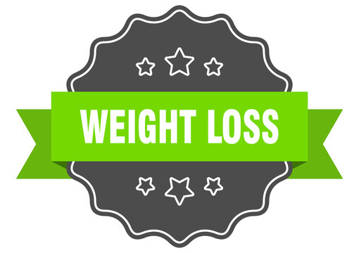 weight loss label. weight loss isolated seal. sticker. sign