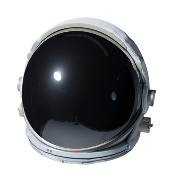 astronaut helmet isolated on white background
