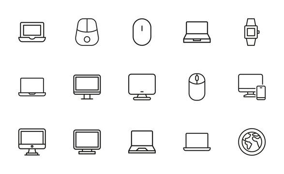 Web site line icons set.