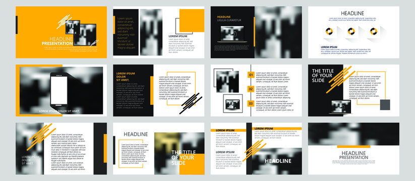 Modern powerpoint presentation templates set for business. Use for modern keynote presentation background, brochure design, website slider, landing page, annual report, company profile, portfolio