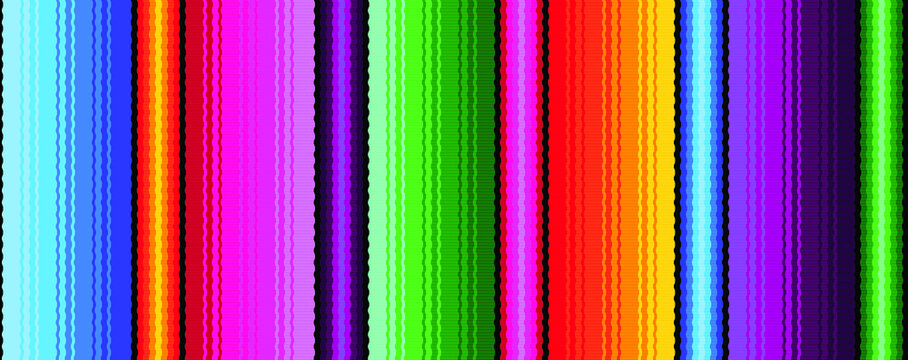 colorful seamless mexican style pattern. serape gesign