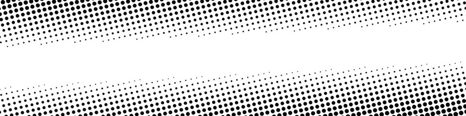 Halftone dotted vector black and white background, pop art comix wallpaper element decoration illustration