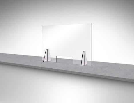acrylic glass pane for protection against corona viruses