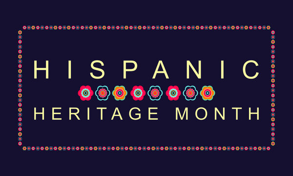 Hispanic Heritage Month poster, card, background