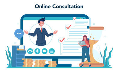 Consulting online service or platform. Research and recommendation