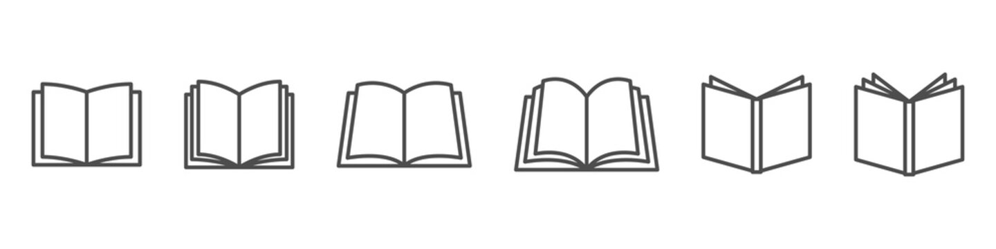 open book vector icon. publish literature education library illustration. open reading logo. on white background