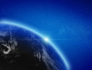 Wall Mural - Planet Earth atmosphere