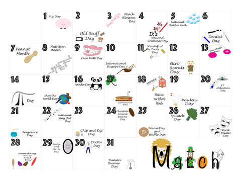 March Quirky Holidays and Unusual Celebrations