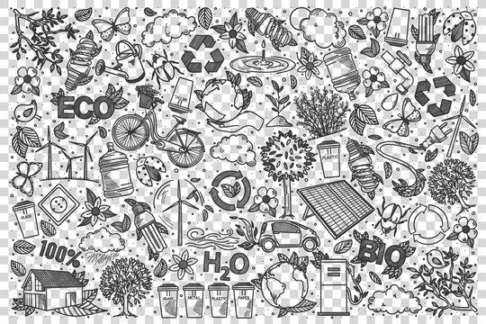 Ecology doodle set