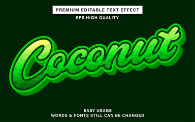 Wall Mural - Editable text effect style coconut