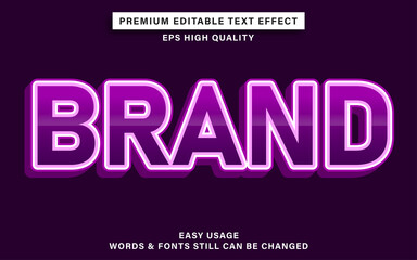Wall Mural - Editable text effect style brand