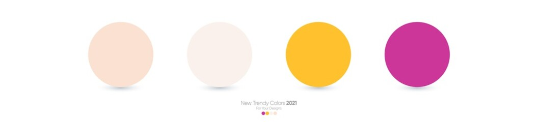 Trendy Pantone color palette 2021 for fashion, home, interiors design, web design, mobile application, social media template, UX and Ui designs, drawing