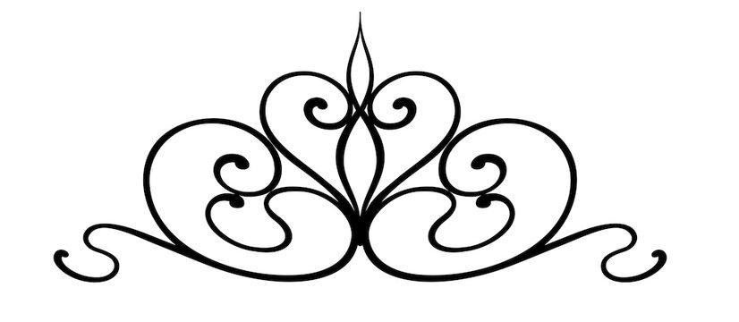 Wrought Iron Scroll Design