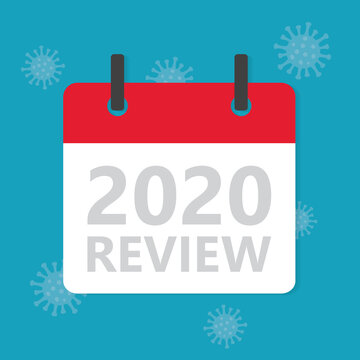 2020 year review concept, impact of the coronavirus pandemic on the global economy- vector illustration