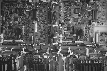 Inside A Machine Of Cables