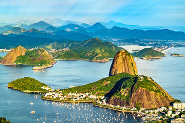 View of Sugarloaf Mountain in Rio de Janeiro - Brazil, South America