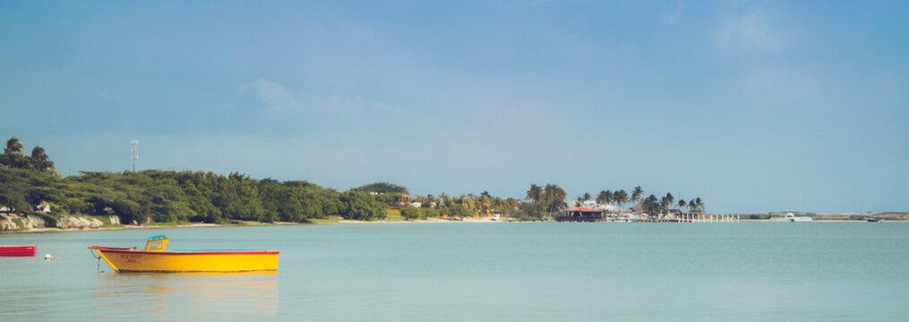 touring aruba in the caribbean natural pool and desert.  exploring the Aruba desert
