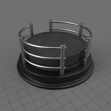 Round coaster set