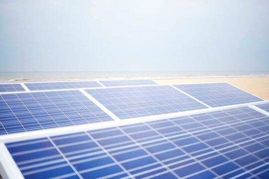 Solar panels absorbing sunlight for a better and greener world