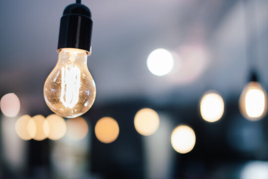 Light bulbs with the closest in focus