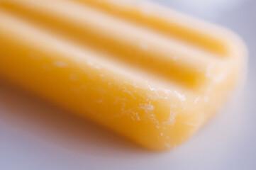 yellow mango fruit popsicle