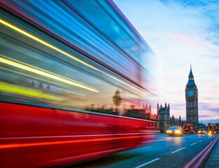 Double-Decker Bus running in London