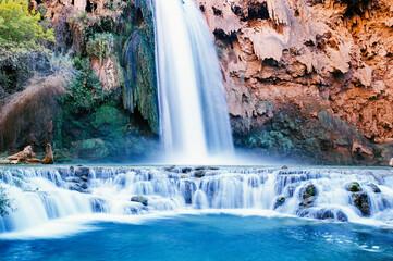 USA, Arizona, Grand Canyon National Park, Havasu Falls Papier Peint